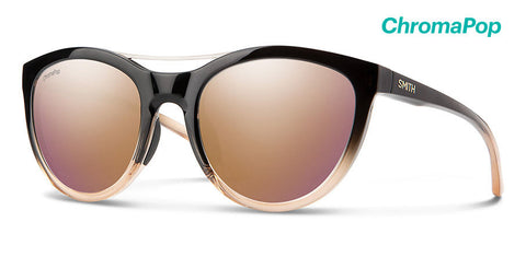 Smith - Midtown 53mm Ombre Fade Sunglasses / Chromapop Rose Gold Mirror Lenses