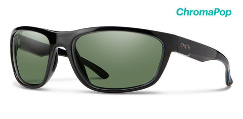 Smith - Redding 62mm Black Sunglasses / Chromapop Polarized Gray Green Lenses