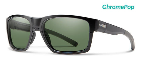 Smith - Caravan Mag 59mm Matte Black Charcoal Sunglasses / Chromapop Polarized Gray Green + ChromaPop Ignitor Lenses