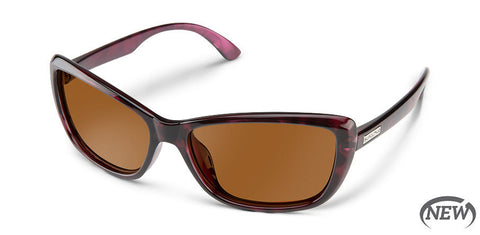 Suncloud - Throwback Violet Havana Sunglasses / Polarized Brown Lenses