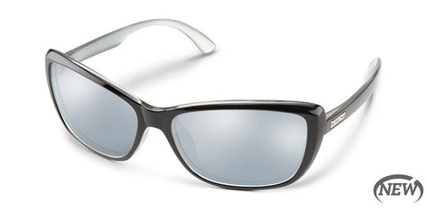 Suncloud - Throwback Black Silver Backpaint Sunglasses / Polarized Silver Mirror Lenses