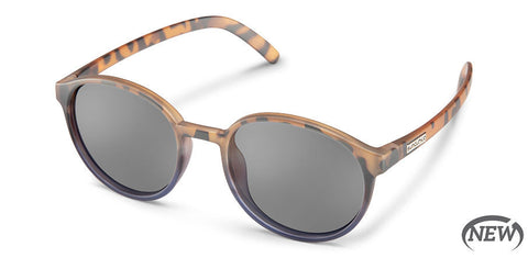 Suncloud - Low Key Matte Tortoise + Dark Violet Fade Sunglasses / Polarized Gray Lenses
