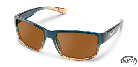 Suncloud - Suspect Ocean Fade Sunglasses / Polarized Brown Lenses