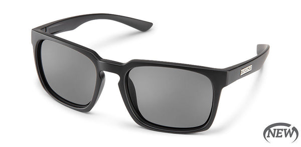 Suncloud - Hundo Matte Black Sunglasses / Polarized Gray Lenses