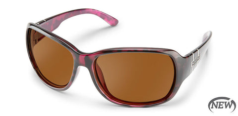 Suncloud - Limelight Violet Havana Sunglasses / Polarized Brown Lenses