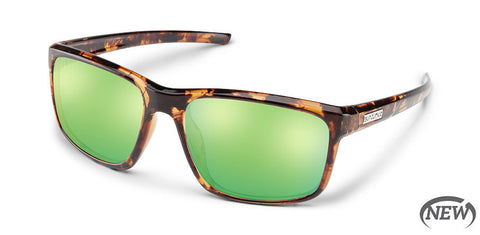 Suncloud - Respek Tortoise Sunglasses / Polarized Green MIrror Lenses