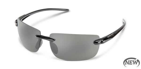 Suncloud - Highride Black Sunglasses / Polarized Gray Lenses