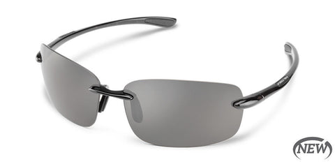 Suncloud - Topline Black Sunglasses / Polarized Gray Lenses