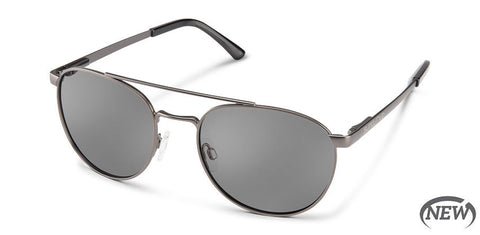 Suncloud - Motorist Matte Gun Metal Sunglasses / Polarized Gray Lenses