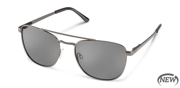 Suncloud - Fairlane Matte Gun Metal Sunglasses / Polarized Gray Lenses