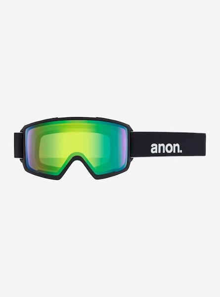 Anon - Men's Helix 3.0 Asian Fit Black Snow Goggles / Sonar Green + Spare Sonar Infrared Lenses