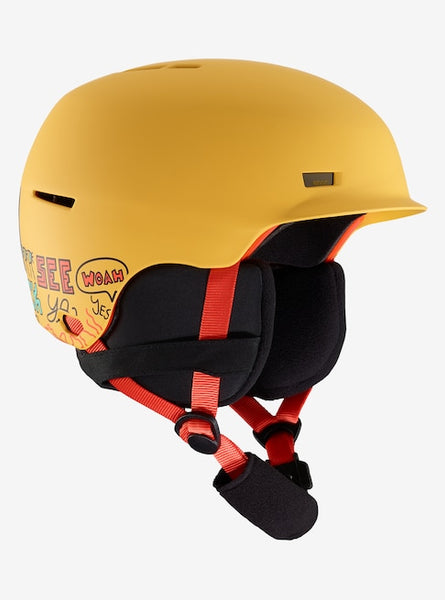 Anon - Kids' Flash S-M Pizza Yellow Snow Helmet