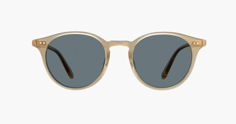 Garrett Leight - Clune Blonde Sunglasses / Semi Flat Blue Smoke Lenses