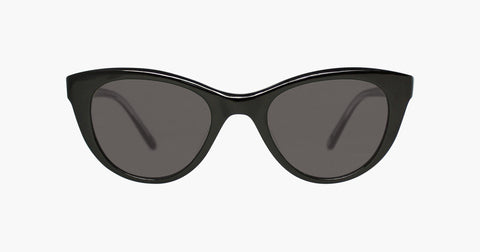 Garrett Leight - Clare Vivier Ébène Sunglasses / Grey Lenses