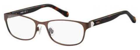 Fossil - Fos 7023 53mm Matte Brown Eyeglasses / Demo Lenses
