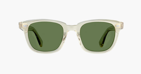 Garrett Leight - Calabar Champagne Sunglasses / Semi Flat Pure Green Lenses