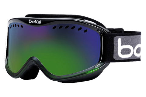 Bolle - Carve Black Green Fade Goggles, Green Emerald Lenses