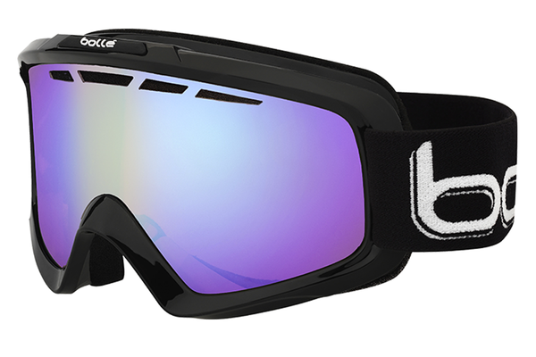 Bolle - Nova II Shiny Black Goggles, Modulator Light Control Lenses