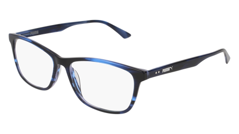 Puma - PU0149O Havana Blue Eyeglasses / Demo Lenses