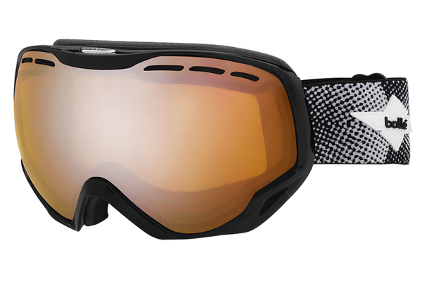 Bolle - Emperor Shiny Black Cross Goggles, Modulator Citrus Gun Lenses