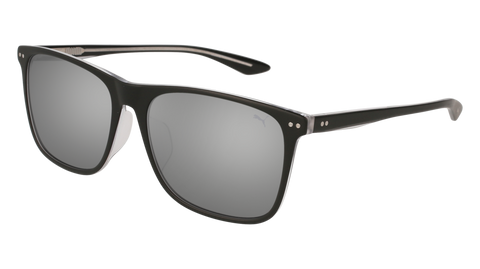 Puma - PU0127SA Black Sunglasses / Silver Mirror Lenses