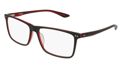 Puma - PU0130O Black Red Eyeglasses / Demo Lenses