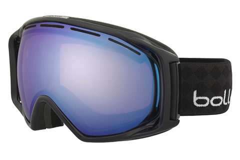 Bolle - Gravity 2 Tones Black Goggles, Modulator Vermillon Blue Lenses