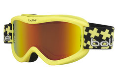 Bolle - Volt Plus Matte Yellow Cross Goggles, Sunrise Lenses