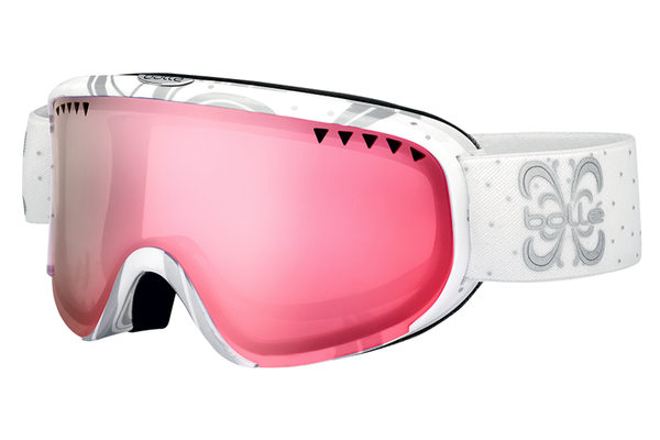 Bolle - Scarlett Shiny White Night Goggles, Vermillon Gun Lenses
