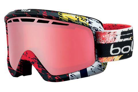 Bolle - Nova II Matte Black & Red Zenith Goggles, Vermillon Polarized Lenses