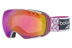 Bolle - Virtouse White & Pink Iceberg Goggles, Rose Gold + Aurora Lenses
