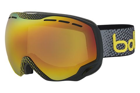 Bolle - Emperor Black & Yellow Dots Goggles, Sunrise Lenses