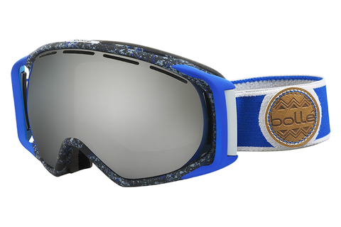 Bolle - Gravity Blue & Grey Goggles, Black Chrome Lenses