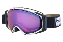 Bolle - Gravity White & Blue Goggles, Aurora Lenses