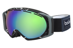 Bolle - Gravity Black & White Goggles, Green Emerald Lenses