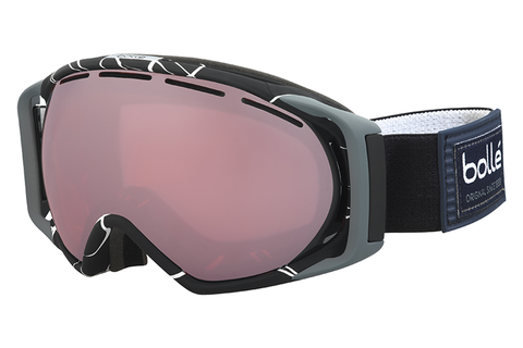 Bolle - Gravity Black & White Goggles, Vermillon Gun Lenses