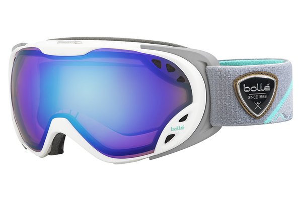 Bolle - Duchess White & Grey Goggles, Aurora Lenses