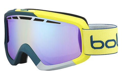 Bolle - Nova II Matte Blue & Yellow Goggles, Modulator Light Control Lenses