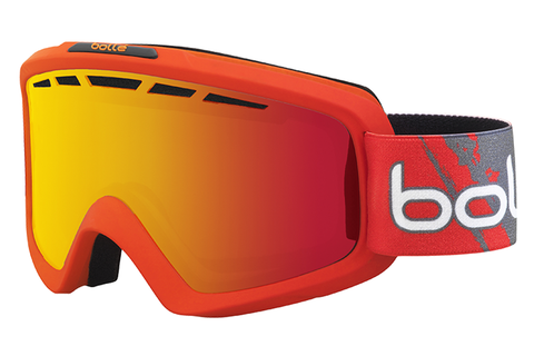 Bolle - Nova II Matte Red Goggles, Fire Orange Lenses