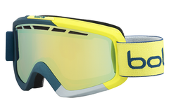 Bolle - Nova II Matte Blue & Yellow Goggles, Fire Orange Lenses