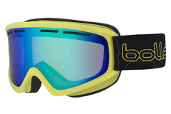 Bolle - Schuss Shiny Lime Goggles, Green Emerald Lenses