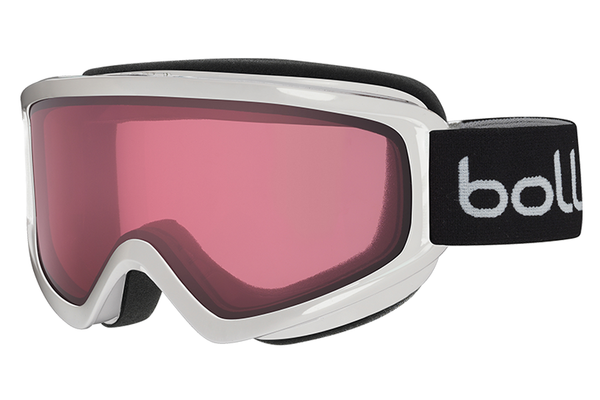 Bolle - Freeze Shiny White Goggles, Vermillon Lenses