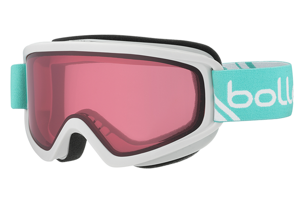 Bolle - Freeze Shiny White & Mint Goggles, Vermillon Lenses