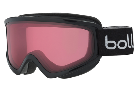 Bolle - Freeze Shiny Black Goggles, Vermillon Lenses
