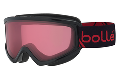 Bolle - Freeze Shiny Black & Red Goggles, Vermillon Lenses