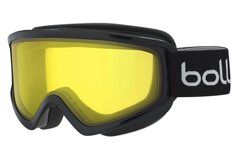 Bolle - Freeze Shiny Black Goggles, Lemon Lenses