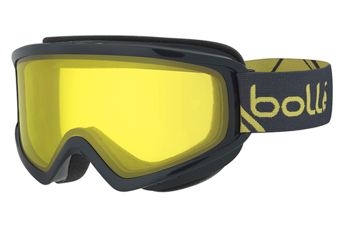 Bolle - Freeze Shiny Grey & Yellow Goggles, Lemon Lenses