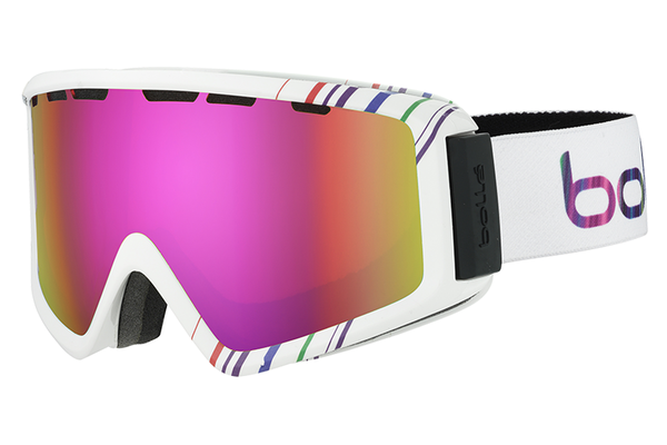 Bolle - Z5 OTG Shiny White & Pink Goggles, Rose Gold Lenses