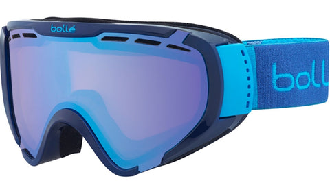 Bolle - Explorer Shiny Blue Brush Snow Goggles / Aurora Lenses