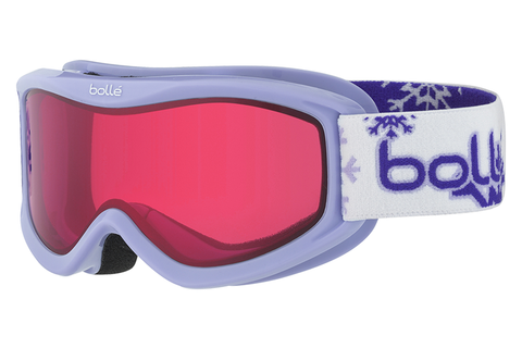 Bolle - AMP Puprle Snow Goggles, Vermillon Lenses